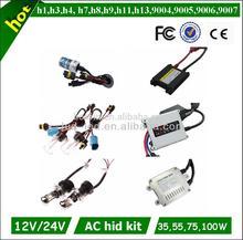 18 months warranty h1 h3 h4 h7 h13 9004 9005 9006 9007 for car phil xenon hid kit 4300k 6000k 8000k 35w 55