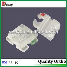 Dental Orthodontic Bracket Ceramic 5*5 Slot Roth 0.018 3 4 5 Hooks