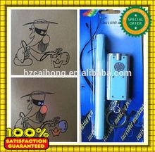 Hot magic pen , permanent UV secret invisible Marker pen with uv light chain CH-6001