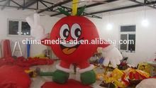 inflatable cartoon custom, custom inflatable apple, custom inflatable model