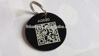 custom QR code metal dog pet id tag