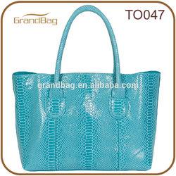 2014 new fashion ladies python leather bags tote trendy