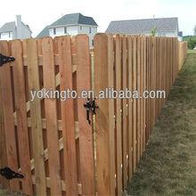 solar light wooden fences
