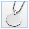 Stainless Steel unique shape geometry dog tag