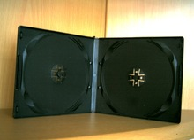 shantou black double/single half size 10mm cd and dvd cases