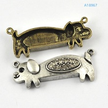 zinc alloy dog pendants pet dog pendants light dog pendant