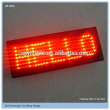 Factory Supply LOGO Printed LED Pin Badge