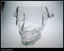 HOT SALE HAND MADE BIG SKULL GLASS ICE BUCKET