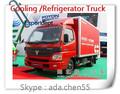 4x2 caja mini camiones van, mini van de carga para la venta, carrito de helado del congelador