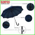 10 costillas de fibra de vidrio marco de la pu gancho de mango del paraguas recta