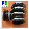 Big size hand built flexible flanged single sphere power plant double rubber expansion joint