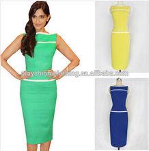 New Promotions Hot Trendy Fashion Sleeveless Dress Women Package Evening Dress