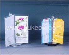 acrylic clear desktop rotate sandwich menu card holder for restaurant