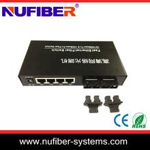 100base TX 4 Ports fiber ethernet switch professional manufacturer