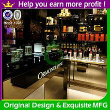 Fashionable perfume counter top display for perfume shop decoration