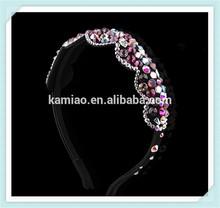 beauty china new bridal colorful crystal hair accessries stoned hair headbands fashion 2014