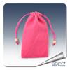 New style factory supply custom red velvet gift bag for jewelry