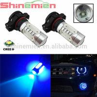 H16 PSX24W 5202 7.5W HIGH POWER Car LED Fog lights Driving Bulbs with glass lens 12V / 24v Car LED lamps