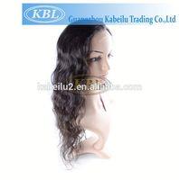 100% natural human hair grey lace front wig
