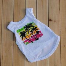 Wholesale summer beach plain white dog t-shirts