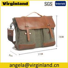 8575 Retro Organic Cotton Custom Book Satchel Bag for Shoulder and Cross Body