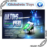 FLYBARLESS FUN ! WLtoys V930 Power Star X2 4CH 2.4G Brushless Flybarless RC Helicopter remote control helicopter