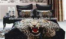 animal 3D design 100%cotton 133*72 reactive printed bedding set animal design