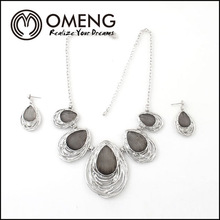 Fashion Filigree Necklace Alloy Jewelry Set WHOLESALE AFRICAN