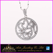 Fire CZ Pendant, 925 Sterling Silver Pendant Garnet, wholesale 925 sterling silver pendants from India