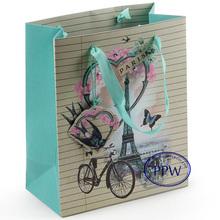 3D Paper Bag Fashion Paris Gift Paper Bags