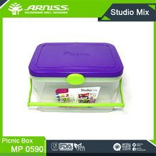 MP0590 Arniss purple storage chest goods organized chest picnic food chest transparent plastic travel picnic storage boxes & bin