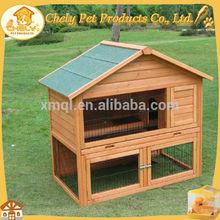 Double-deck Cheap Cages For Rabbit Asphalt Roof Rubber Feet Pet Cages, Carriers & Houses