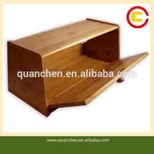 Clear Bamboo Bread Bin Bread Box