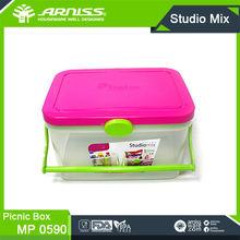 MP0590 Arniss magenta storage chest goods organized chest transparent plastic travel picnic plastic food storage box