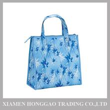 Bamboo Printing Foldable Cooler Bag or Tote Bag for Food