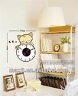 New cute cat wall sticker .vinyl wall art clock home decoration