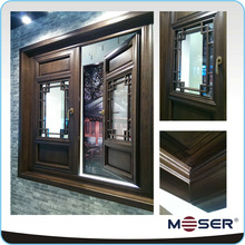 New approval-Moser IV92 wooden windows Antique window casement window with blind design