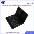 Ledertasche mit tastatur für 9,7-zoll-tablet-pc, 7-zoll-tastatur fall für android tablette, ledertasche für Microsoft surfa