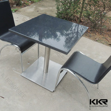 KKR Engineered stone restaurant table tops and bases