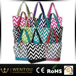 New design personalized gift chevron tote bag