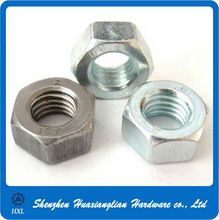 White bule zinc plated M10 iso 4032 hex nut