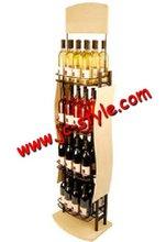 nice looking beverage&wine bottle display rack/metal liquor wine racks/wine holder rack for supermarket promotion