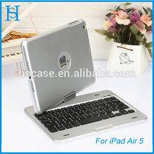 Rotatable bluetooth keyboard aluminum case For ipad mini case