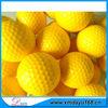 Beautiful Color Yellow Cool Logo Custom Great Pu Golf Ball