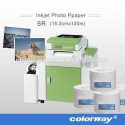 factory supply mini lab digital RC satin/semi-glossy dry inkjet photo paper, minilab rc paper Noritsu D703