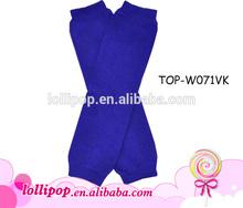 Hot sale royal blue plain solid color baby leg warmers