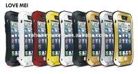 LOVE MEI aluminum metal phone case for iphone 5 shockproof waterproof case