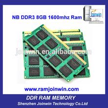 In stock ETT chips ram memory 8gb ddr3 1600 laptop with low density