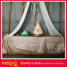ACG Mesh Sequence table line, red sequin knitted wedding furniture manufacturer