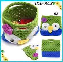 OEM Custom knitted handmade crochet party kid bag small 21cm*19cm